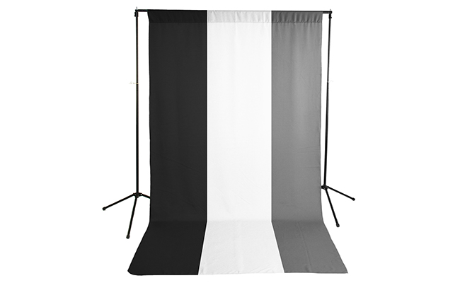 Black/White/Gray Wrinkle Resistant Backdrop Kit