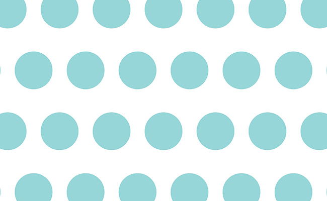 Aqua Polka Dots Printed Background Paper