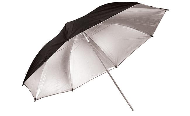 Silver/Black Umbrella