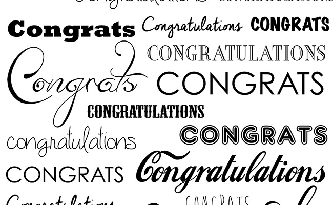 Congratulations Printed Background Paper