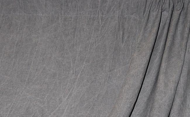 Dark Gray Washed Muslin Backdrop