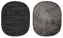 Dark Planks/Light Gray Collapsible Backdrop