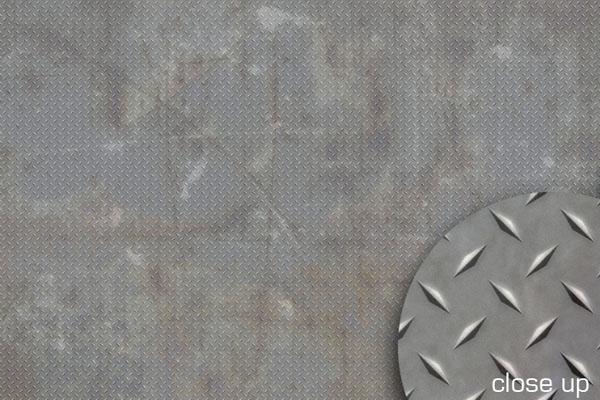 Diamond Plate Grunge Floor Drop