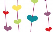 Floating Hearts Printed Background Paper
