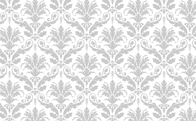 Gray Floral Printed Background Paper