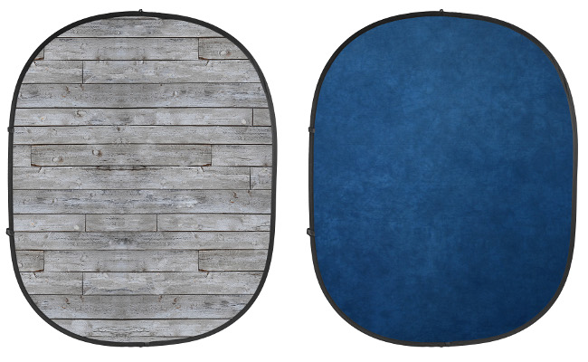 Gray Pine/Blue Collapsible Backdrop