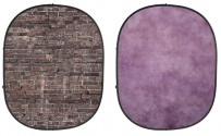 Grunge Brick/Purple Collapsible Backdrop