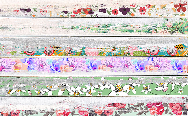 Vintage Floral Printed Background Paper